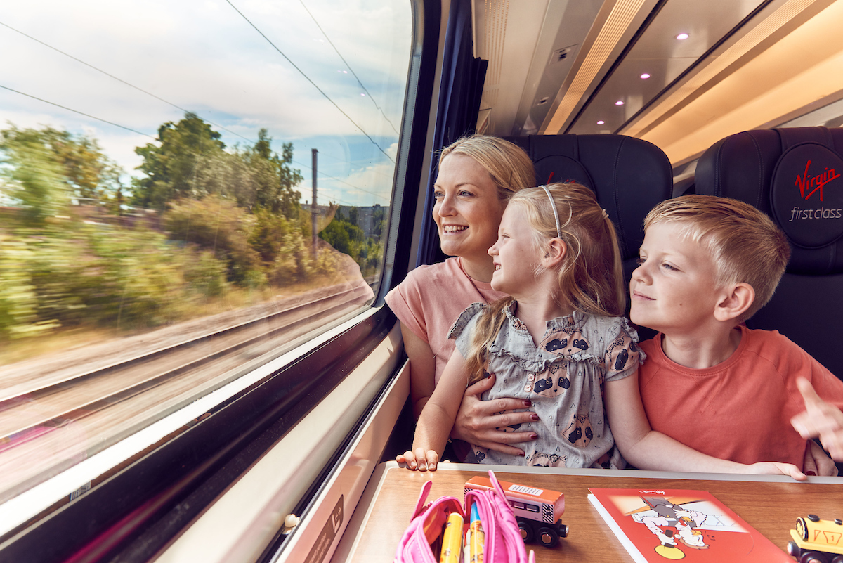 Blogger and mum of three, Becky Freeman (pictured with her children Sasha and Freddie) claims travelling on a train is the most peaceful way to start a family holiday. Virgin Trains has revealed the biggest 'carmageddon' car arguments for parents as 3.4 million cars are predicted to hit the roads this Saturday for the summer holidays. The research also revealed 62 per cent believe arguments could have been avoided had they opted to travel by train and 46 per cent agree the train was a better experience.  PR Handout   For further information please contact Rosie Stewart at Kaper PR at rosie.stewart@kaper.uk.com
